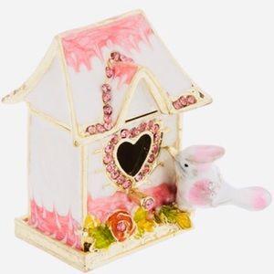 Mini Magnetic Jewelry Ring Bird House Box